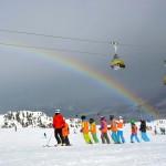 Am Ende des Regenbogens findet sich immer ein Skiteam.