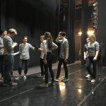 ...Vorbereitungen auf der Bühne